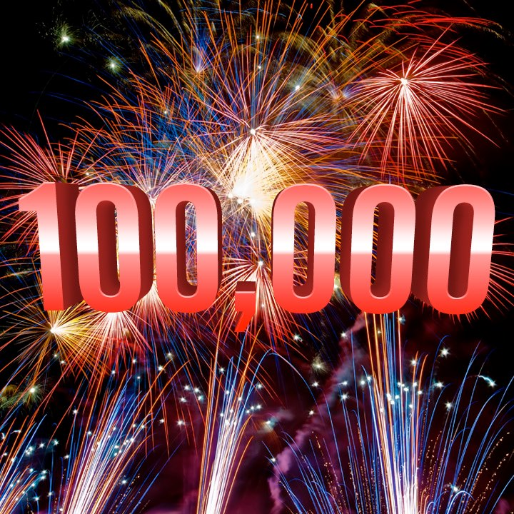 More than 100,000 visitors!